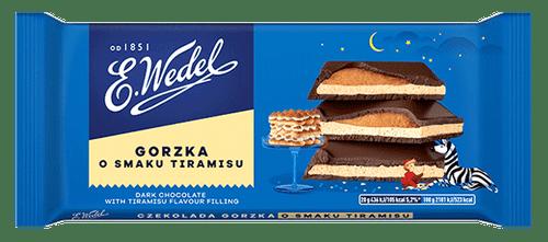 Wedel - Dark Chocolate With Tiramisu Filling, 100g