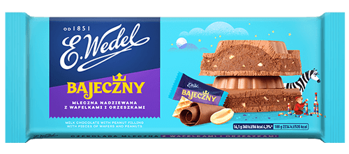 Wedel - Milk Chocolate Bajeczna With Peanut And Wafer Filling, 100g