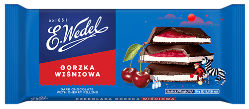 Wedel - Dark Chocolate With Cherry Filling, 100g