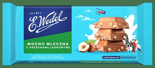 Wedel - Extra Milk Chocolate With Hazelnuts, 100g