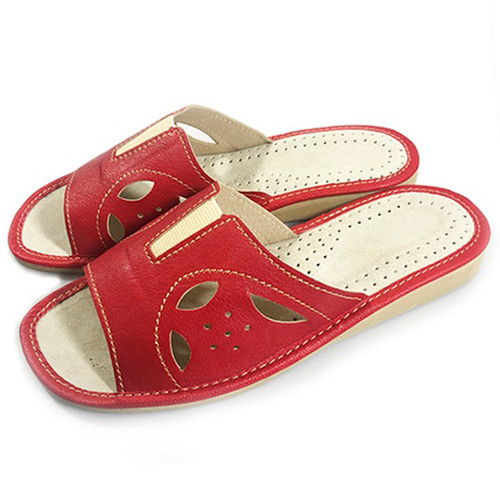 Women's Home Slippers - (Red Cutouts)