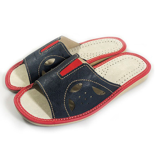 Women's Home Slippers - (Navy Cutouts)