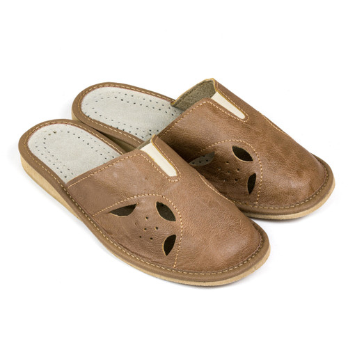 Women's Home Slippers - (Brown Cutouts)