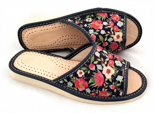 Women's Home Slippers - (Floral Linen)