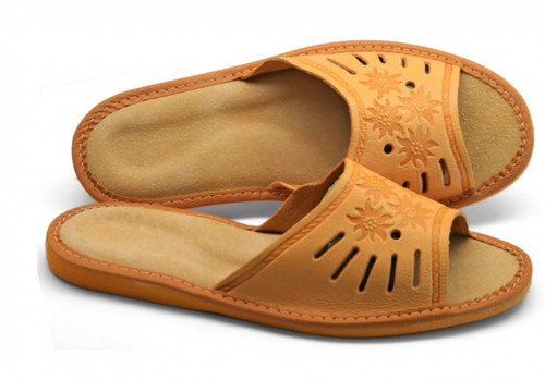 Women's Home Slippers - (Traditional Leather)