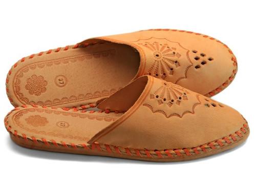 Women's Home Slippers -Close Toe Leather (Zakopane)