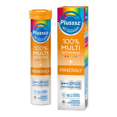 Plusssz Multivitamin + Minerals, 20 tablets