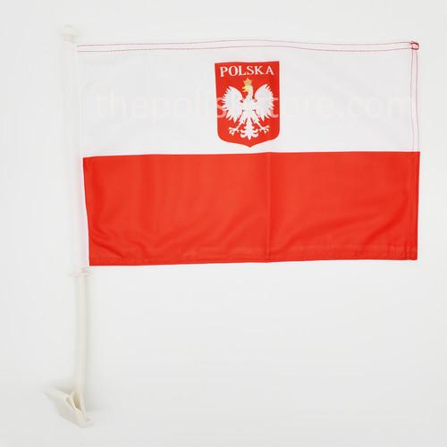 Poland Car Flag