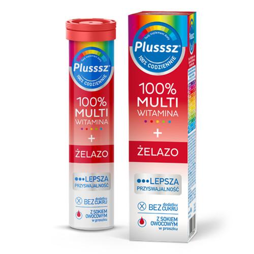 Plusssz Multivitamin + Iron, 20 tablets