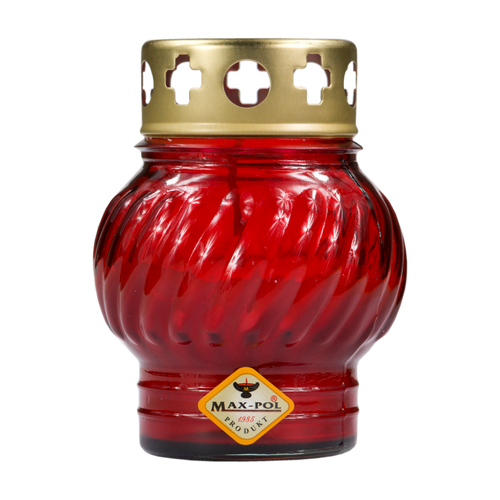Memorial Candle -  Classic Red Glass, 12cm