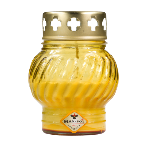 Memorial Candle -  Classic Yellow Glass, 12cm