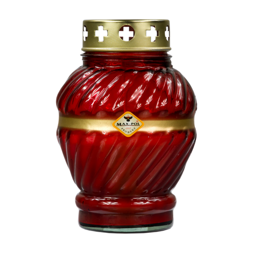 Memorial - Candle Classic Red Glass, 17cm
