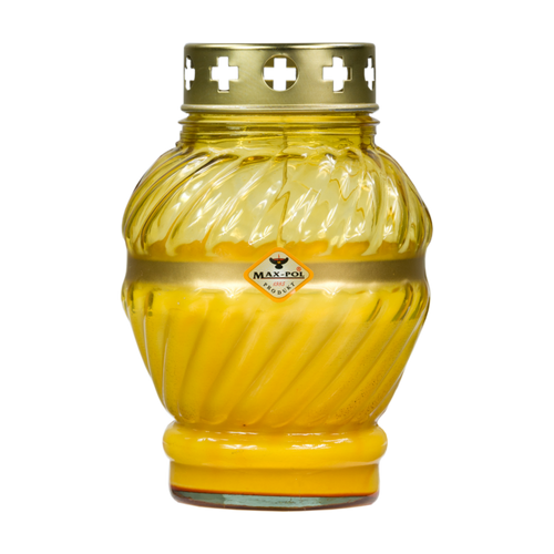 Memorial - Candle Classic Yellow Glass, 17cm