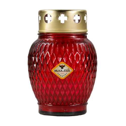 Memorial Candle -  Classic Red Glass, 13cm