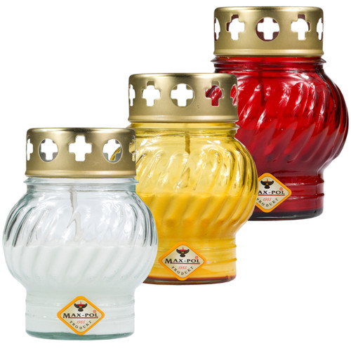 Memorial Candle -  Classic Glass Mix Of 6, 12cm