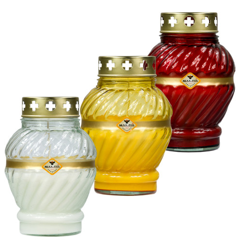 Memorial - Candle Classic Glass Mix Of 6, 17cm