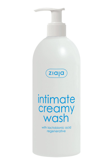 Ziaja - Intimate Creamy Wash With Regenerative Lactobionic Acid, Vegan, 500ml
