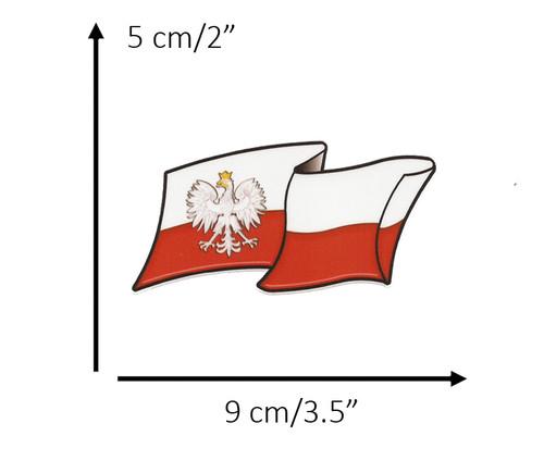 Polish - Flag with Eagle Decal