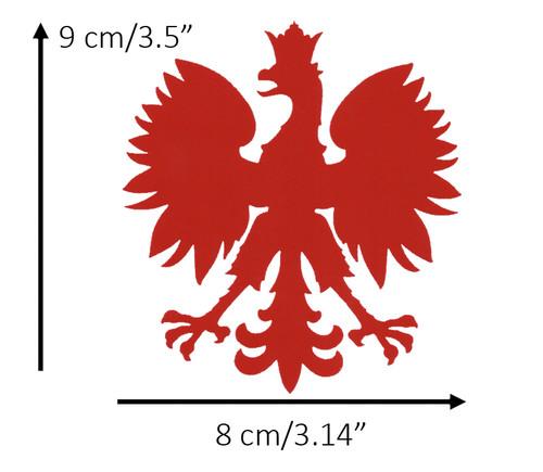 Polish - Large Red Eagle Decal