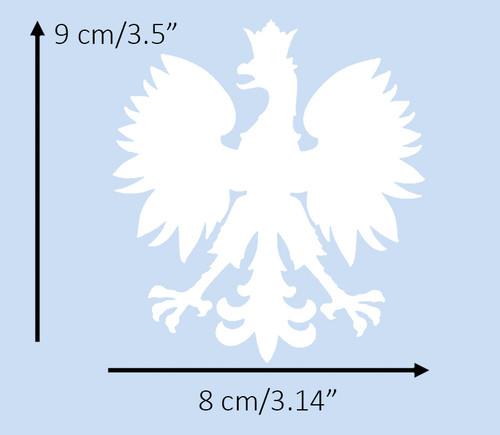 Polish - Large White Eagle Decal
