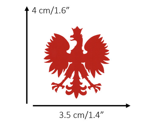 Polish - Small Red Eagle Decal