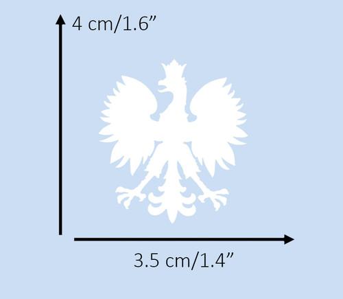Polish - Small White Eagle Decal