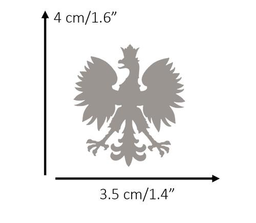 Polish - Small Silver Eagle Decal