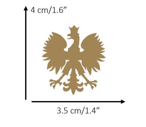 Polish - Small Gold Eagle Decal