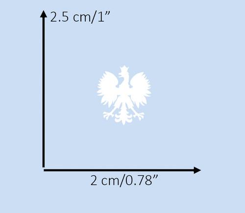 Polish - Extra Small White Eagle Decal