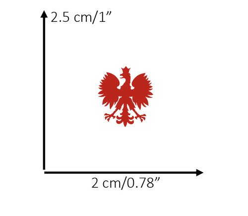 Polish - Extra Small Red Eagle Decal