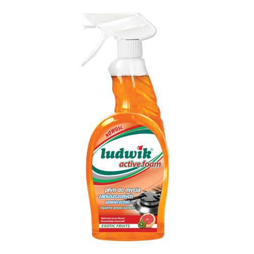 Ludwik - Greasy Surfaces Cleaner With Active Foam Exotic Fruit, 750ml