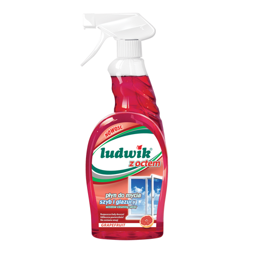 Ludwik - Window And Tile Cleaner With Vinegar Grapefruit Fragrance, 750ml