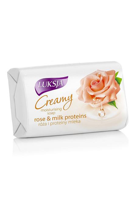 Luksja - Bar Soap Rose Petal & Milk Protein, 90g