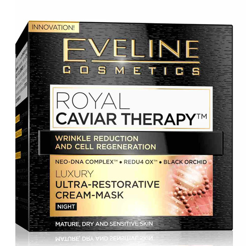 Eveline - Royal Caviar Therapy Ultra Restorative Night Cream-Mask, 50ml