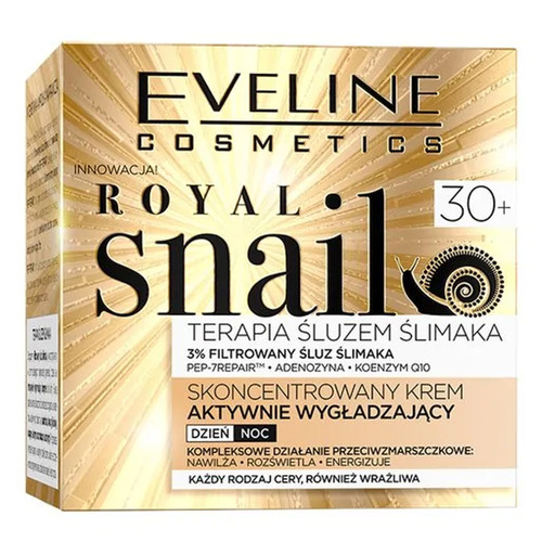 Eveline - Royal Snail Concentrated Actively Smoothing Day & Night Cream (30+), 50ml