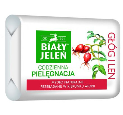Bialy Jelen - Bar Soap Hawthorn Rose Extract, 100g