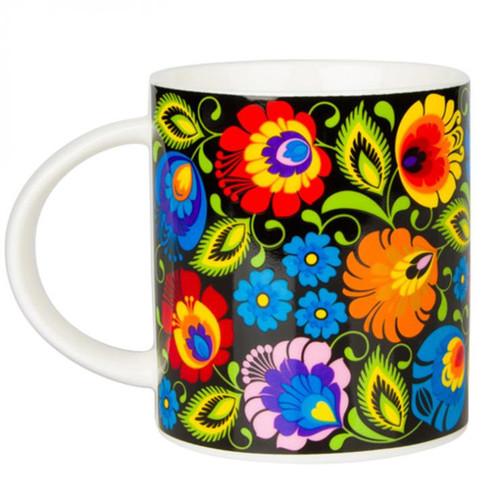 Polish Folk Janek Black Mug