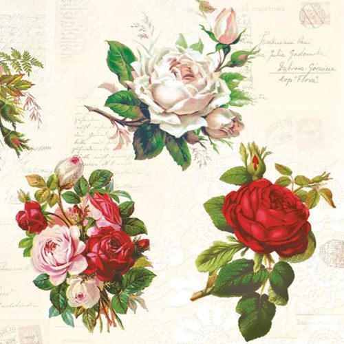 English Roses Paper Napkins