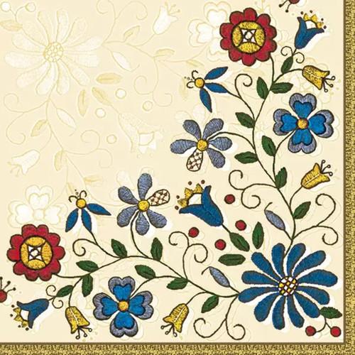 Polish Folk Floral Pattern Paper Napkins