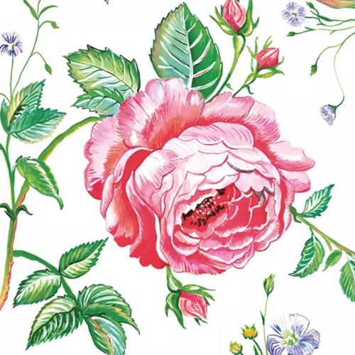 English Rose Paper Napkins