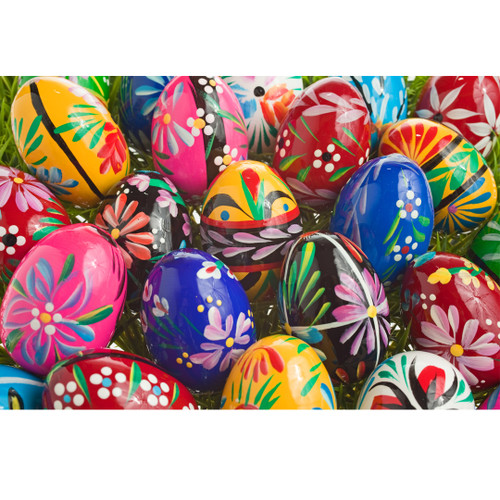 Polish Wooden Easter Eggs - Pisanki (set of 6)