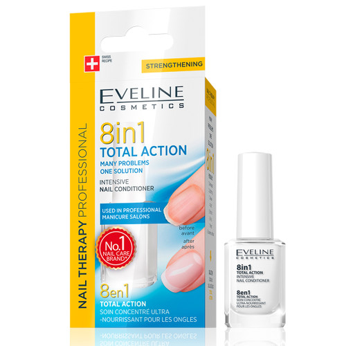 Eveline - Nail Therapy 8 In 1 Total Action Intensive Nail Conditioner