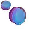 Faceted Purple  Aurora Borealis Glass  Double Flare ear plugs