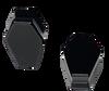 Black Obsidian Coffin Organic Stone Ear Gauges
