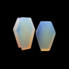 Coffin Shaped Opalite Organic Stone Ear Gauges