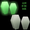 Coffin Shaped Glow In The Dark Ear Gauges