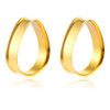 Gold Stainless Steel Teardrop Double Flared Tunnels