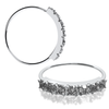 22 gauge 7 Clear Gem CZ Gem 925 Sterling Silver Nose Ring Continuous Seamless Hoop bendable