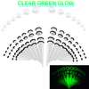 50 piece acrylic silicone Glow in the dark  Acrylic tapers Ear Stretching Kit
