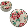 Stainless Steel Asian Floral Ear Gauges-PAIR